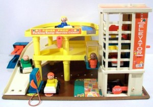 Vintage three level Fisher-Price garage