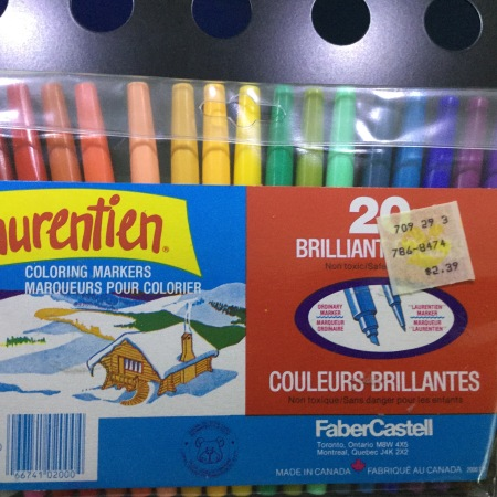 20 pack of 1980s-era markers, price sticker $2.29