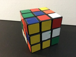 Scrambled Rubik's Cube circa 1985